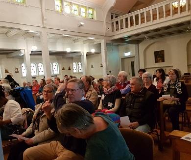 Célébration à la Chapelle de St Paul des retrouvailles (Assise)des personnes en situation de handicapes, le 16 février 2020.