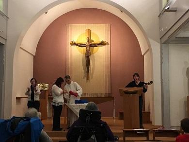 Célébration à la chapelle St Paul, personnes en situation de handicap