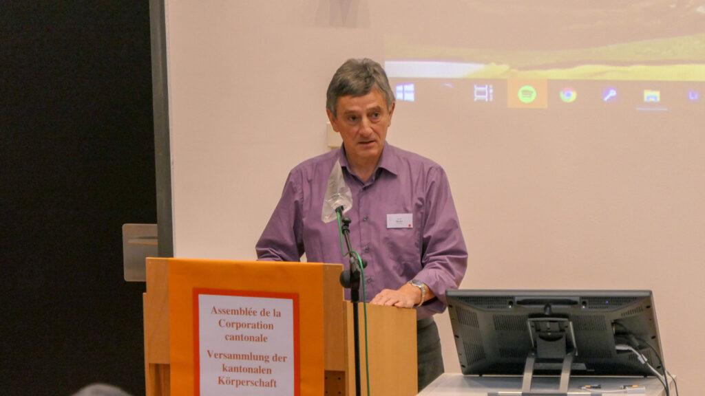 Gérald Telley, responsable des finances de la CEC, a présenté le budget 2021