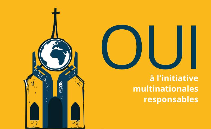 Affiche pour l'iniciative Multinationales Responsables